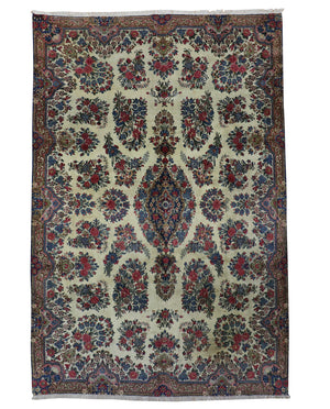 7x10 Antique Kerman Persian Oriental Area Rug