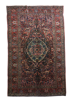 7x10 Antique Bakhtiari Persian Oriental Area Rug