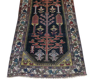 3x13 Antique Bakhtiari Persian Oriental Runner Rug