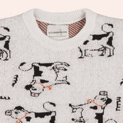LOLA COW KNIT SWEATER