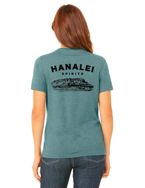 Hanalei Spirits Heather Slate Tee