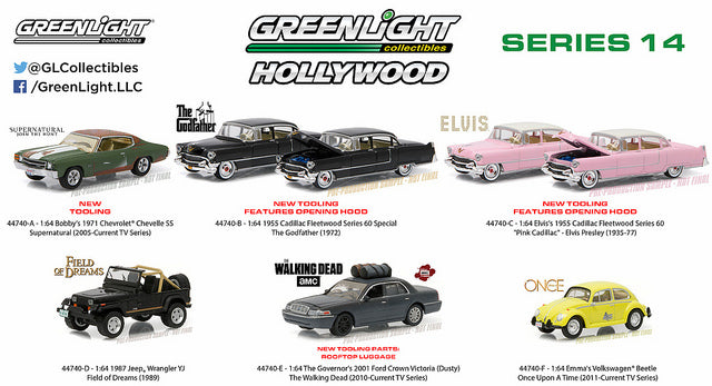 GREENLIGHT 44740 A SUPERNATURAL SERIES BOBBY/'S 1971 CHEVROLET CHEVELLE SS 1//64