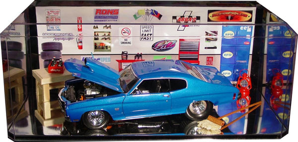Display Case With Mirror Bottom For 1 18 Scale Cars
