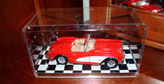 Display Case with Checkered Bottom for 1/24 Scale Cars