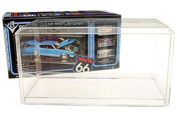 Display Case with Clear Bottom for 1/24 Scale Cars