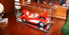 Display Case with Mirror Bottom for 1/24 Scale Cars
