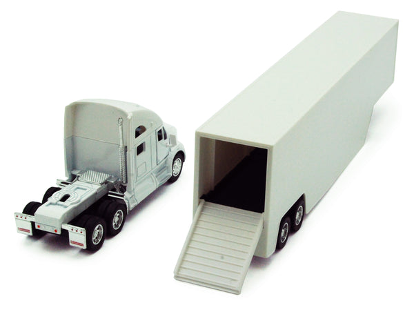 Kenworth T700 Tractor with White Trailer 1/68 Scale Toy Truck