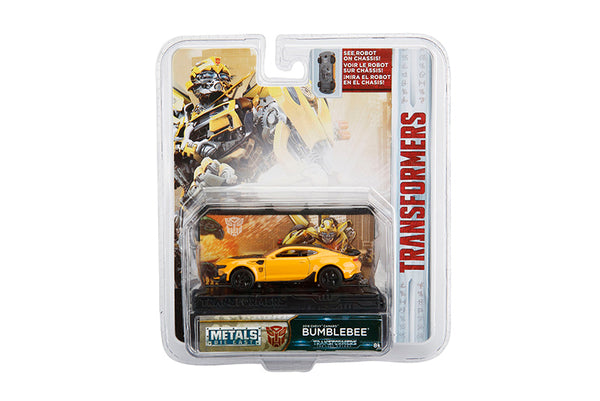 Transformers 1/64 Scale Bumblebee 2016 Chevy Camaro Diecast Car with Display by Jada