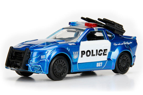 Transformers 1/64 Scale Barricade Custom Police Diecast Car with Display by Jada