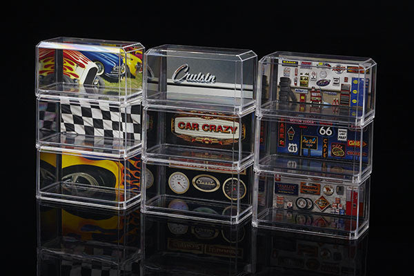 6 Pack of 1/64 Clear Display Cases for Hotwheel or Matchbox size cars