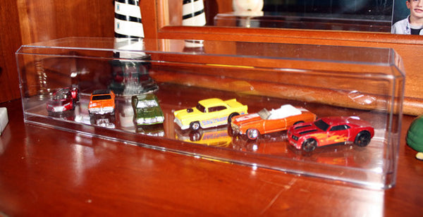 Display Case with Clear Bottom for 1/64 Scale Tractor Trailer or Cars
