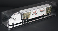 Display Case with Mirrored Bottom for 1/64 Scale Tractor Trailer