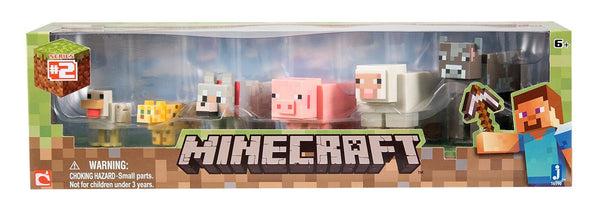Minecraft Core Animal 6-Pack (Chicken, Ocelot, Tame Wolf, Pig, Sheep, Cow)