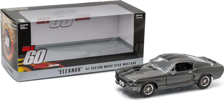 Gone in 60 Seconds Eleanor 1967 Custom Grey Ford Mustang 1/24 Scale Diecast  Model