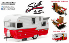 White & Red Shasta 15' Airflyte 1/24 Scale Diecast Model by Greenlight