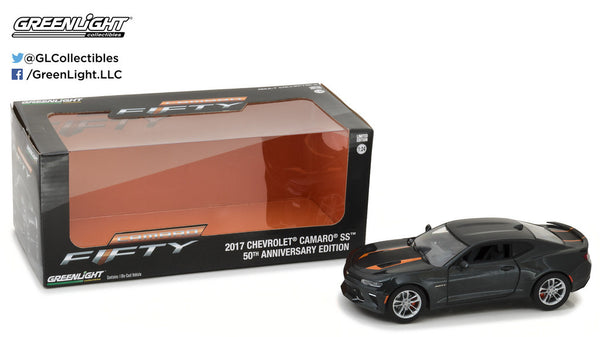 Black 2017 Chevrolet Camaro SS 1/24 Scale Diecast Model by Greenlight