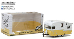 White & Yellow Shasta 15' Airflyte 1/24 Scale Diecast Model by Greenlight