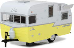 1/24 Scale Hitch and Tow Series 1 White & Yellow Shasta 15' Airflyte Diecast Model by Greenlight