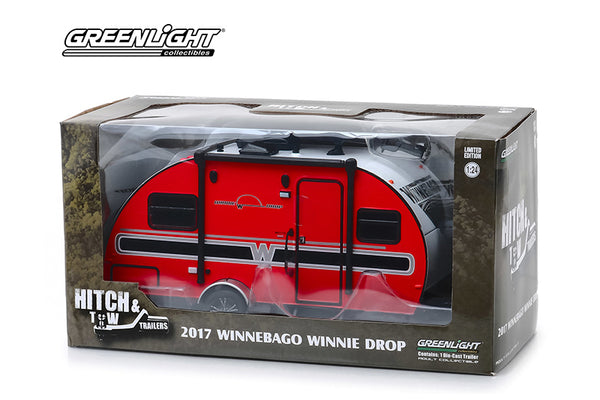 1/24 Scale 2017 Winnebago Winnie Drop Trailer Diecast Model by Greenlight