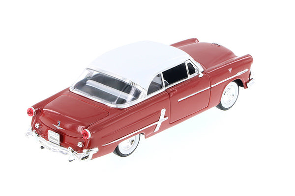 Red 1953 Ford Crestline Victoria 1/24 Scale Diecast Model with Window Box by Welly