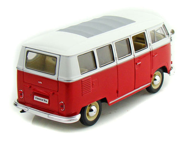 Red & White 1963 Volkswagen T1 Bus 1/24 Scale Diecast Model by Welly