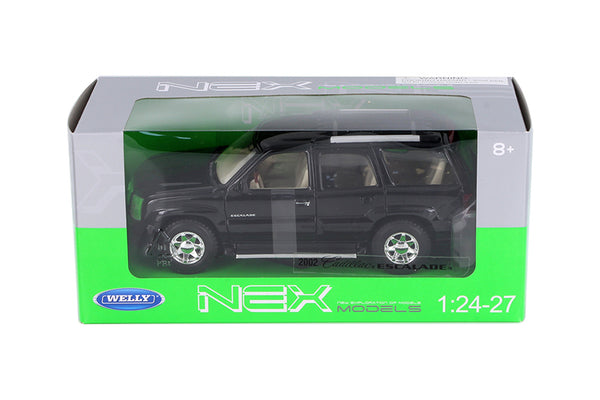 Black 2002 Cadillac Escalade SUV 1/24 Scale Diecast Model with Window Box