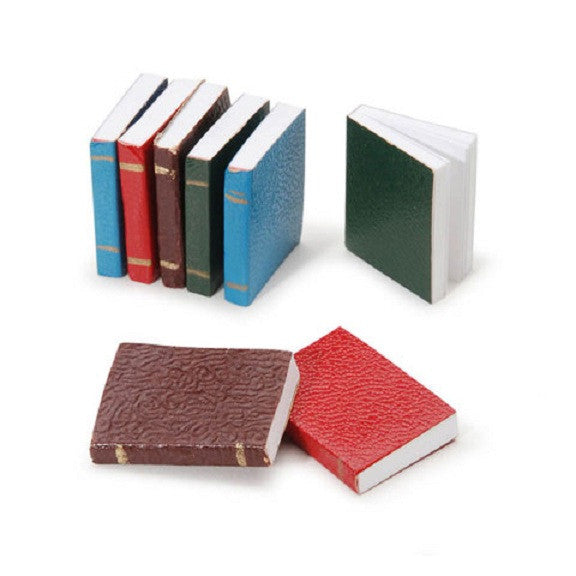 Miniature - Assorted Color Books - 0.75 inches - 8 pieces