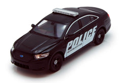 2013 Black Ford Police Interceptor 1/24 Scale Diecast Model by Welly