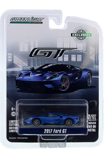 Greenlight Blue 2017 Ford GT  1/64 Diecast Car