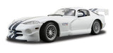 White Dodge Viper GT 2 1/18 Scale Diecast Model