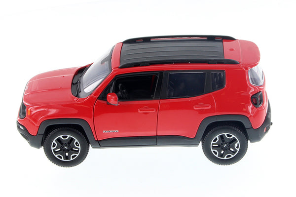 Red 2017 Jeep Renegade 1/24 Scale Diecast Model Car