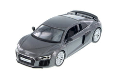 Grey Audi R8 V10 Plus 1/24 Scale Diecast Model by Maisto