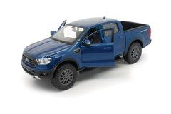 Dark Blue 2019 Ford Ranger Lariat Sport 1/27 Scale Diecast Model