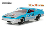 Greenlight Hollywood 1987 Pontiac Firebird from MacGyver TV Show 1/64 Scale Diecast