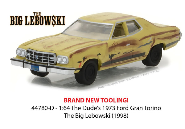 The Dude's from Big Lebowski 1973 Ford Gran Torino 1/64 Scale Diecast Car