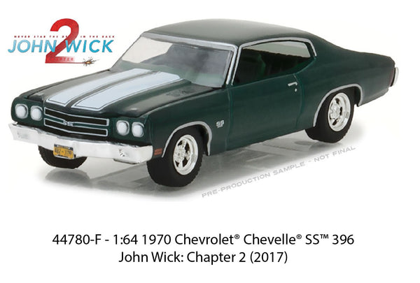 1970 Chevrolet Chevelle SS from John Wick 2 1/64 Scale Diecast Car
