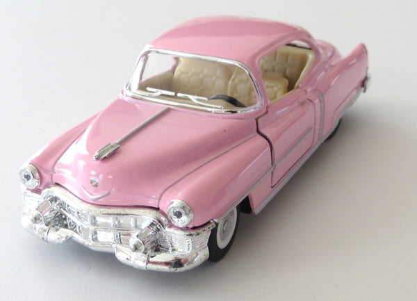 1953 Pink Cadillac Series 62 Coupe Diecast Car Toy with Pullback Action (NO BOX)