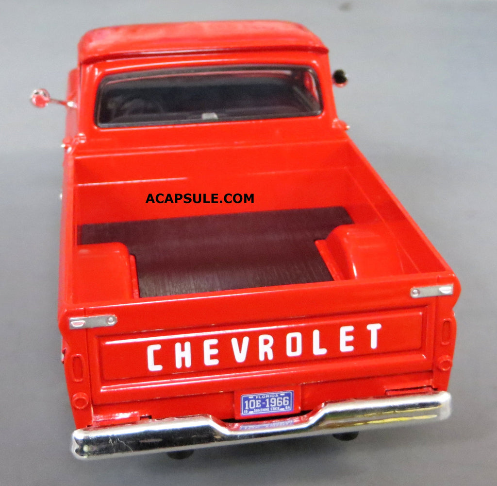 Red 1966 Chevrolet C10 Fleetside Pick Up 1 24 Scale Diecast Model Chevy