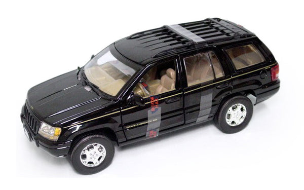 Motormax Black Jeep Grand Cherokee SUV 1/18 Scale Diecast Model Car