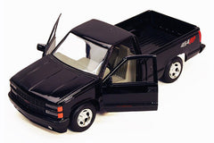 1/24 Scale 1992 Black Chevrolet 454 SS Pick Up Diecast Model (NO BOX)