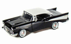 1/24 Scale 1957 Black Chevy Bel Air Hard Top Diecast Model