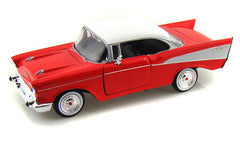 1/24 Scale 1957 Red Chevy Bel Air Hard Top Diecast Model