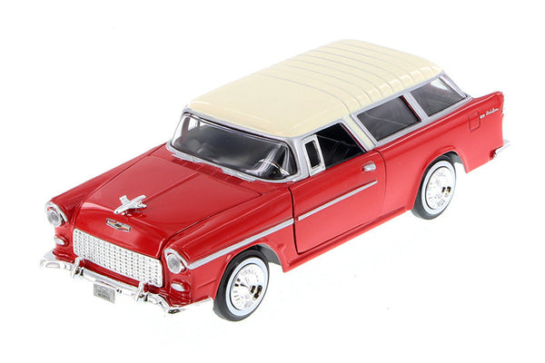 Red 1955 Chevy Bel Air Nomad 1/24 Scale Diecast Model