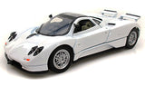 White Pagani Zonda C12 with Sunroof 1/24 Scale Diecast Model