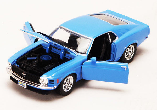 Blue 1970 Ford Mustang Boss 429 1/24 Scale Diecast Model