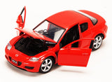 Red Mazda RX-8 1/24 Scale Diecast Model