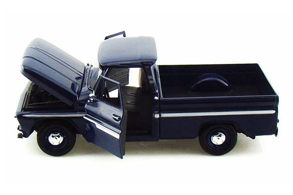 Dark Blue 1966 Chevrolet C10 Fleetside Pick Up 1/24 Scale Diecast Model