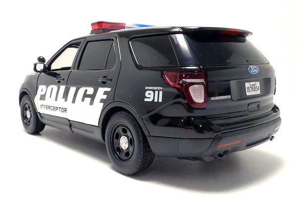 Motormax 2015 Ford Police Interceptor SUV with Light and Sound 1/18 Scale Model
