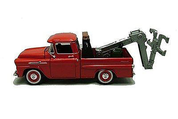 1958 Chevy Apache Fleetside Tow Truck 1/24 Scale Diecast Model with Plastic Parts
