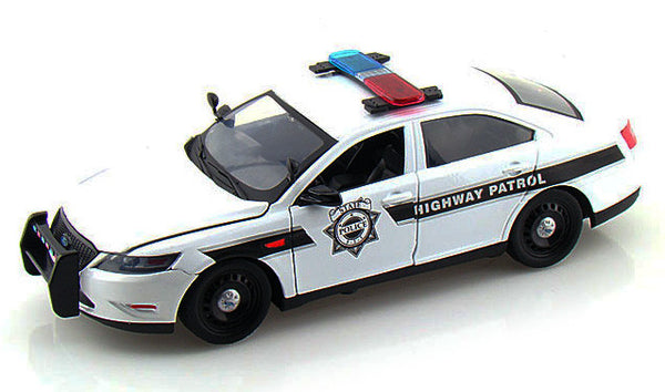 1/24 Scale Highway Patrol 2013 White Ford Police Interceptor Diecast Model